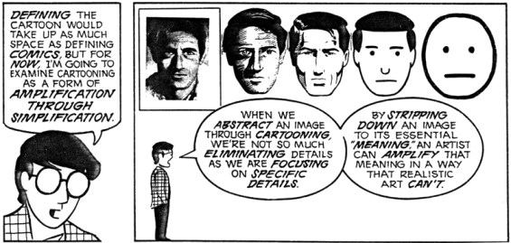 Understanding Comics - Amplification Through Simplification
