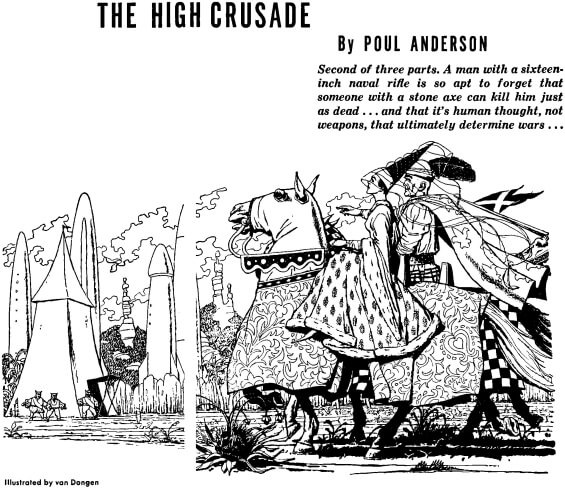 The High Crusade by Poul Anderson - illustration by H. R. Van Dongen