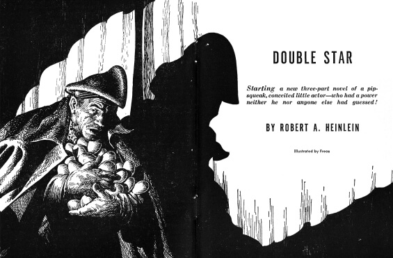 Double Star by Robert A. Heinlein - illustrated by Frank Kelly Freas