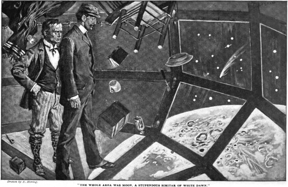 "Cosmopolitan Magazine (Nov., 1900 - June, 1901). H. G. Wells' ""The First Men in the Moon.""  illustrations by E. Hering"