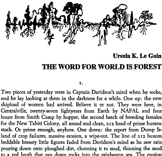 Again, Dangerous Visions - The Word For World Is Forest by Ursula K. Le Guin