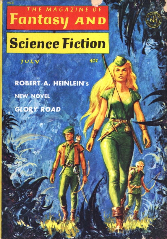 Robert A. Heinlein's GLORY ROAD - Fantasy & Science Fiction, July1963