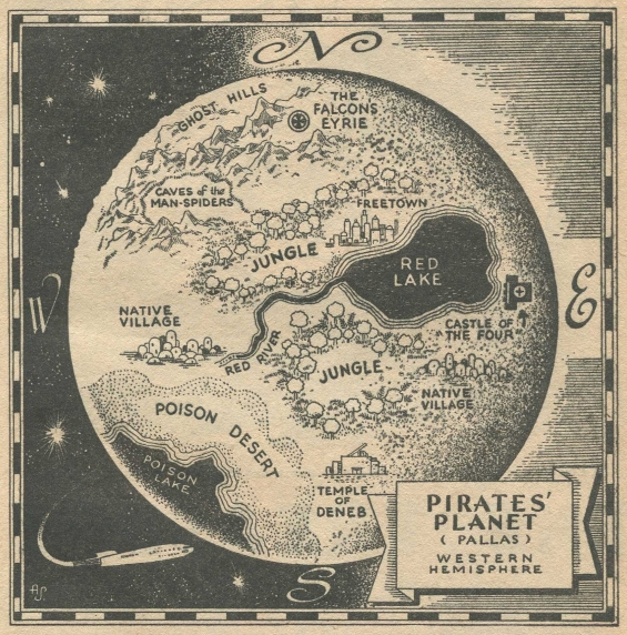 Pirates' Planet from CAPTAIN FUTURE, Winter 1942