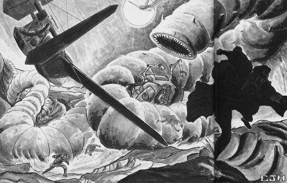 The Sandworm Strikes - illustration by Ed J. Hannigan