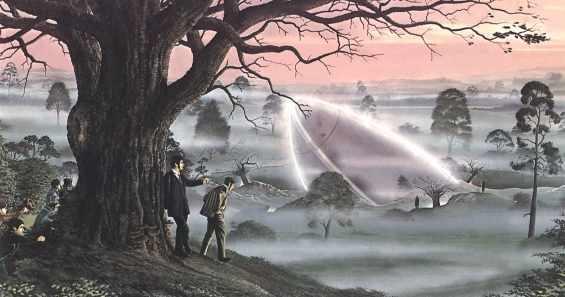 War Of The Worlds - Horsell Common - illustration by Peter Goodfellow