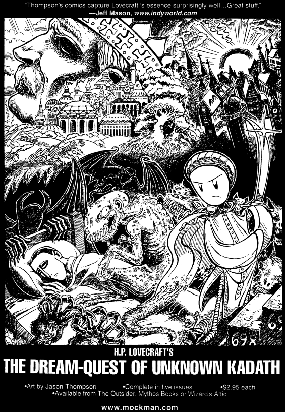 ad for H.P. Lovecraft's The Dream-Quest Of Unknown Kadath by Jason Thompson - from The Unspeakable Oath issue 16/17