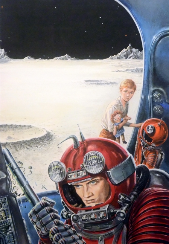 Ed Emshwiller illustration of Have Spacesuit, Will Travel