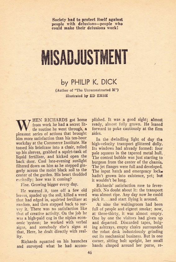 Misadjustment by Philip K. Dick