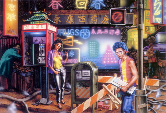 NEUROMANCER - illustration by Barclay Shaw