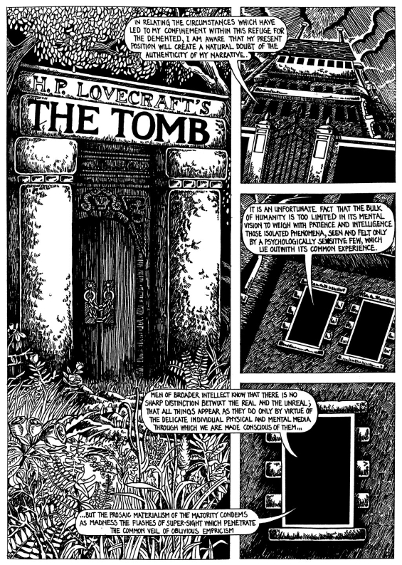 H.P. Lovecraft's THE TOMB adapted for Strange Aeons, issue 2
