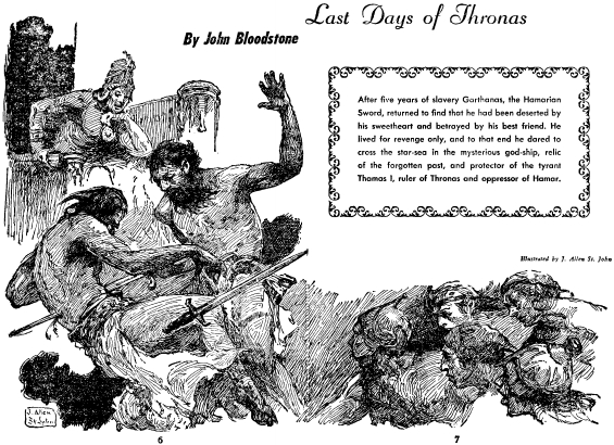 Last Days Of Thronas by S.J. Byrne - illustration by J. Allen St. John