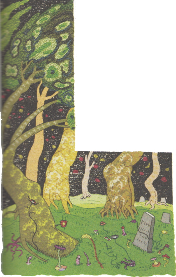 The Lurking Fear - Nearest Of All Was The Graveyard - Illustration by Clark Ashton Smith
