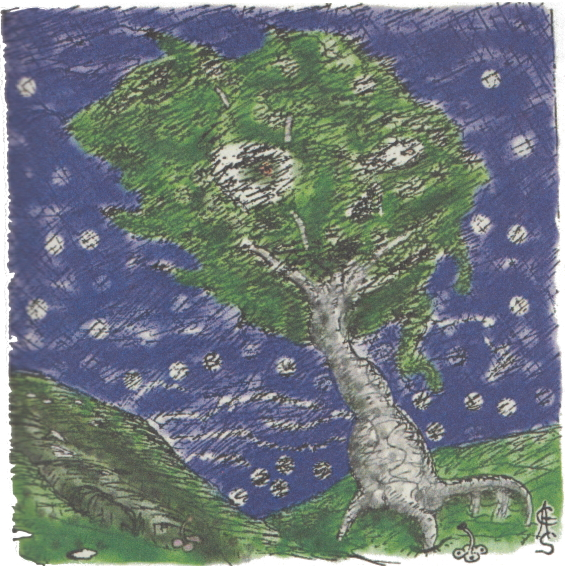 The Lurking Fear - Tempest Mountain illustration by Clark Ashton Smith