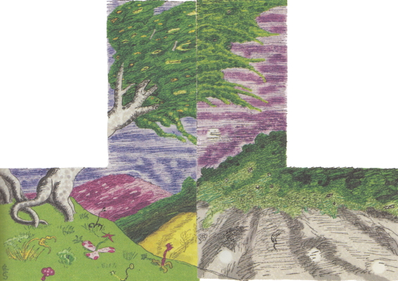 The Lurking Fear - The Lines Radiated - illustration by Clark Ashton Smith