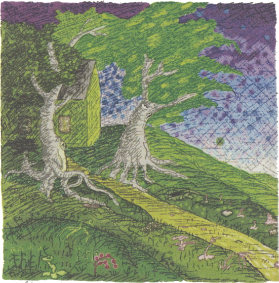 The Lurking Fear - The Martense Mansion illustration by Clark Ashton Smith