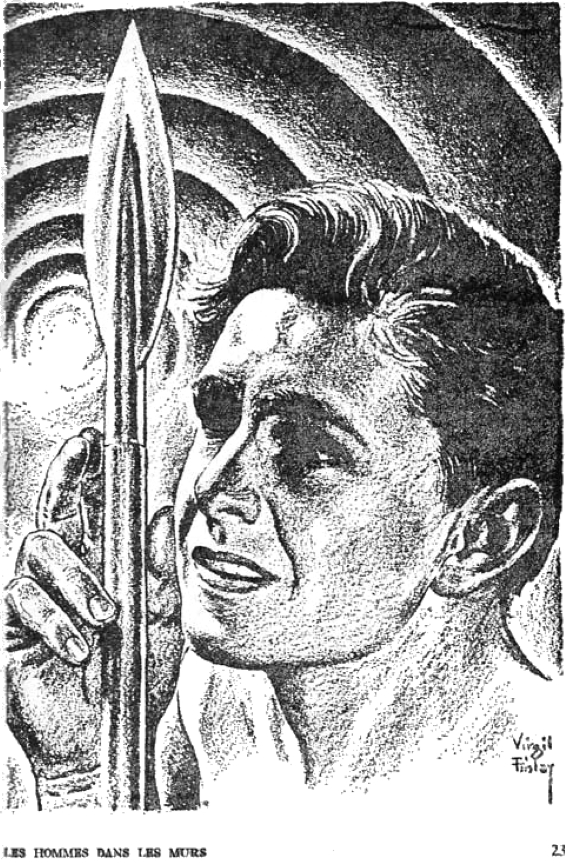 The Men In The Walls by William Tenn illustration by Virgil Finlay