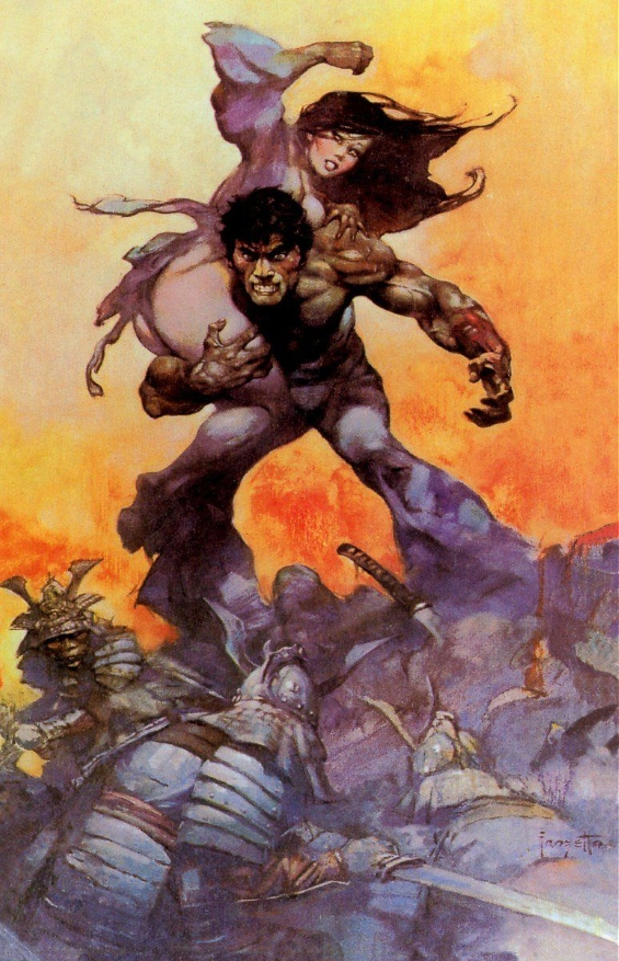 The Mucker - illustration by Frank Frazetta