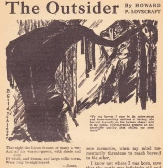 The Outsider by H.P. Lovecraft - Weird Tales, April 1926