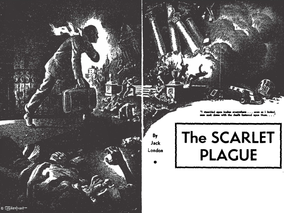 The Scarlet Plague by Jack London - Famous Fantastic Mysteries