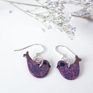Happy Bird Earrings Handmade by Amanda Cope