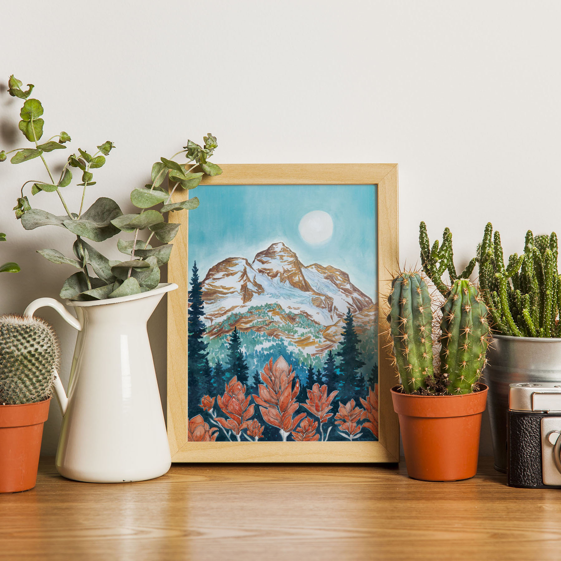 Mount Begbie Wildflowers Print