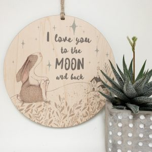 I love you to the moon and back, quote for child's room