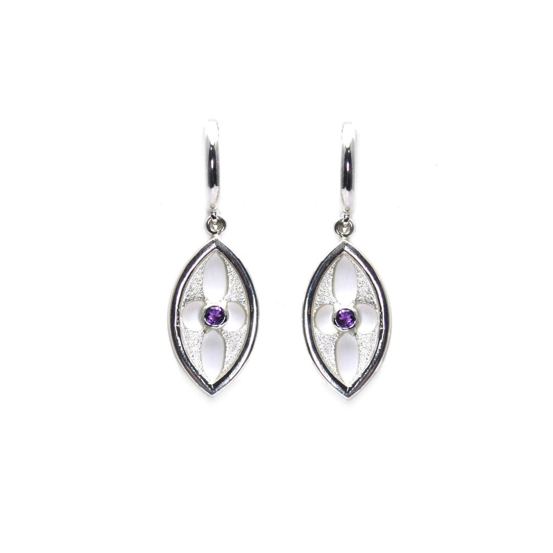 Amethyst Arch Earrings