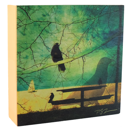 Wood Block - Creative Crow