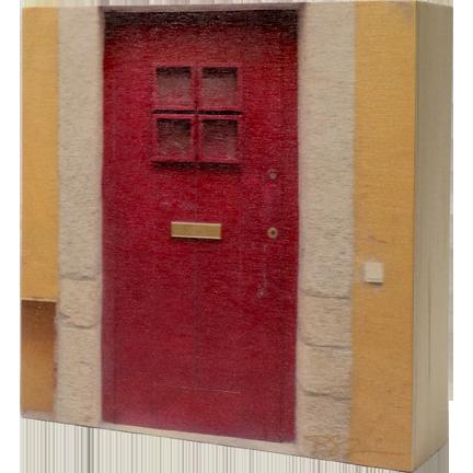 Wood Block - Portugal Door - Red