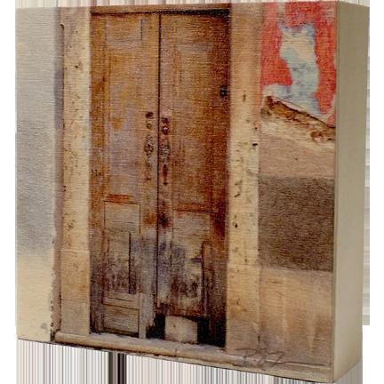 Wood Block - Portugal Door - Brown