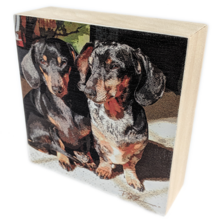 Wood Block - BFF - Squeeky and Zoey