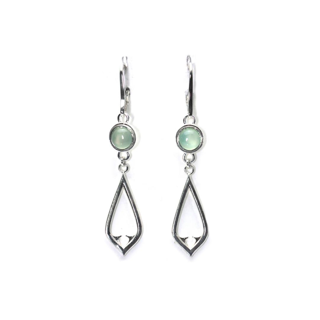 Architectural Chalcedony earrings