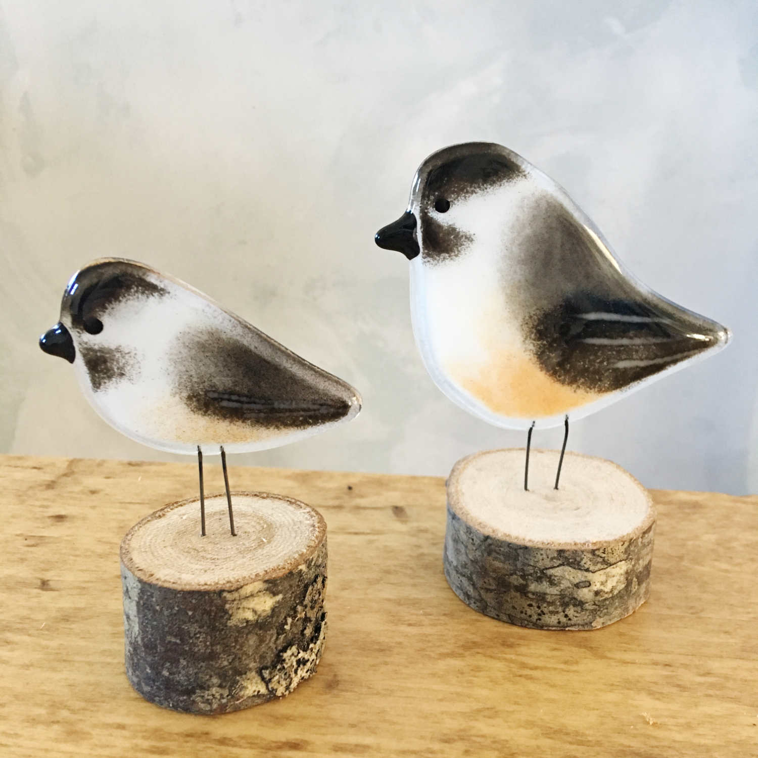 Large and Small Chickadee Ornaments