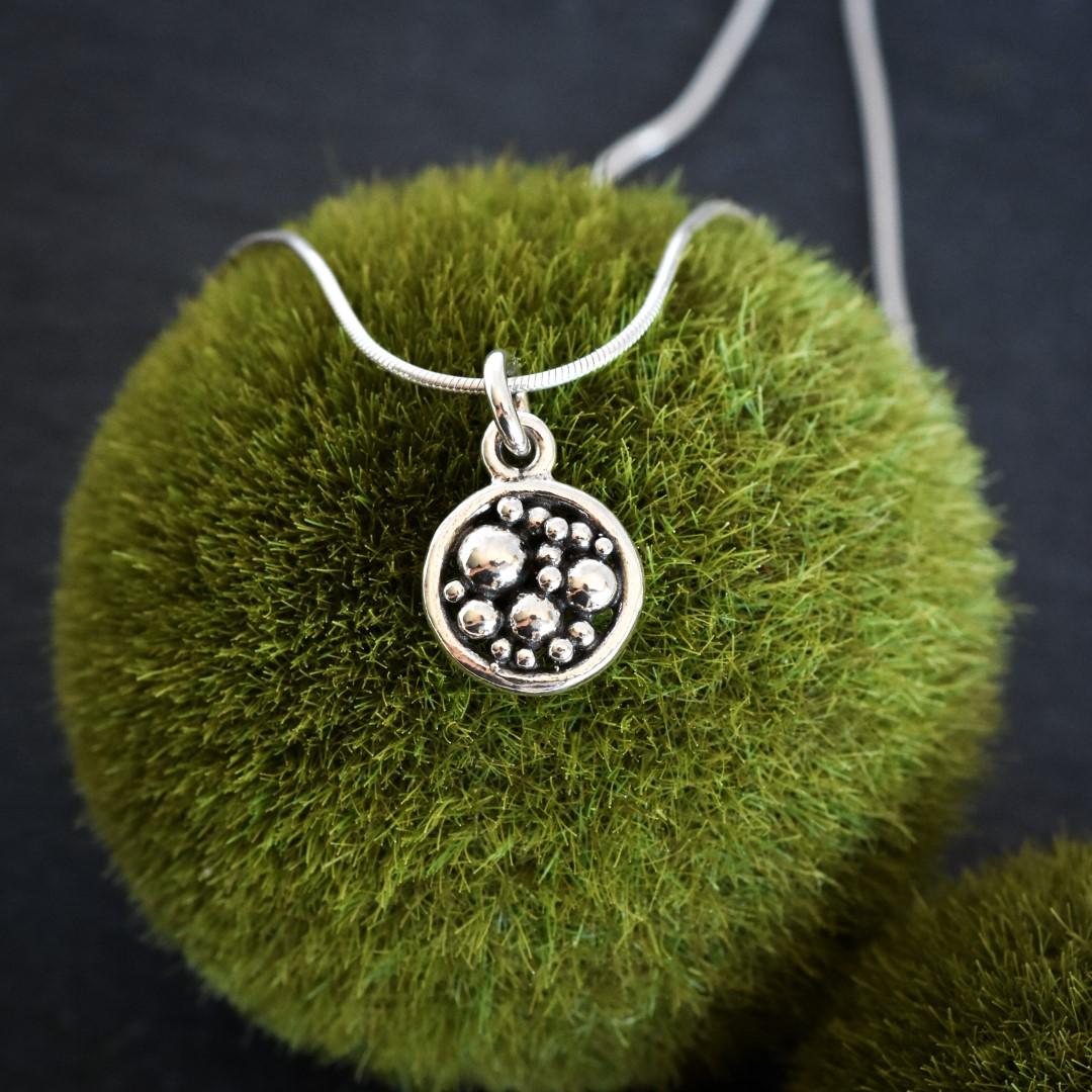 handmade sterling silver pendant by Melissa Pedersen