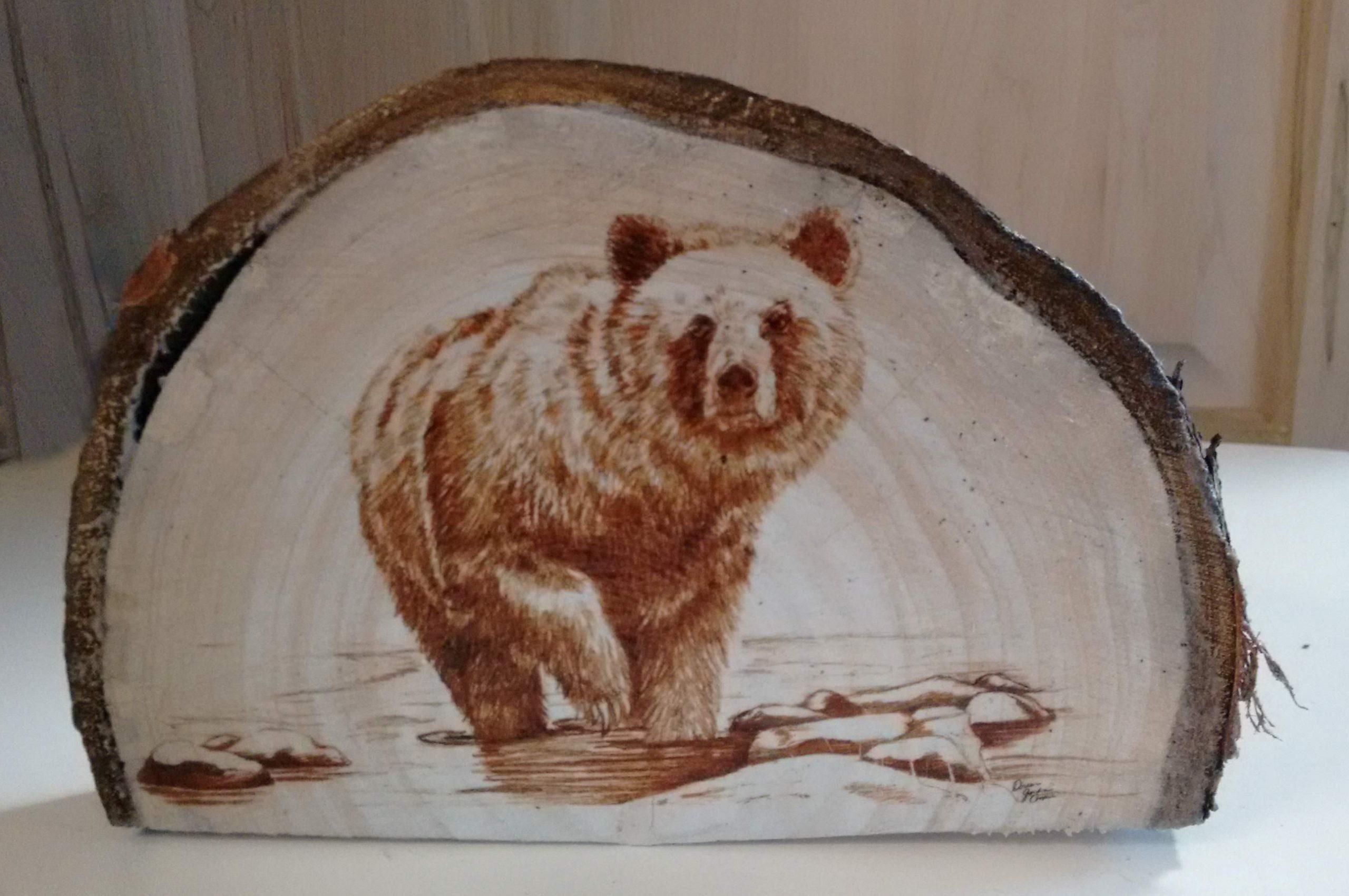 artwork on wood