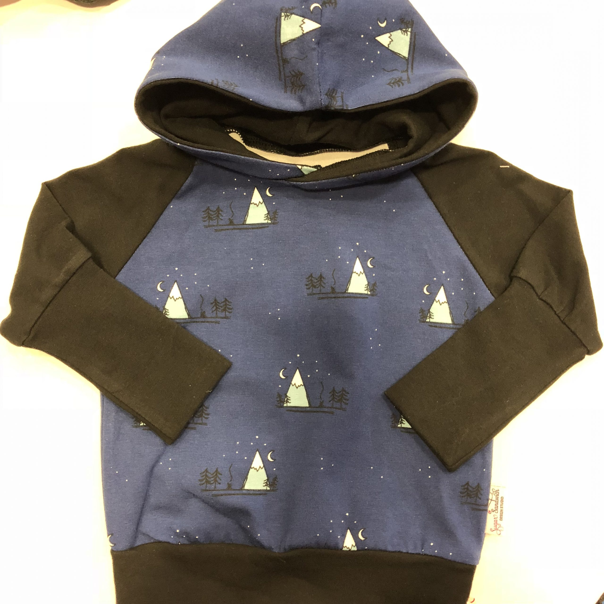 blue mountains hoodie hooded sweater grow along babywear adjustable fit for infants and children