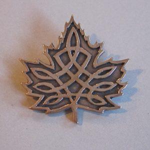 Celtic Maple Leaf Brooch