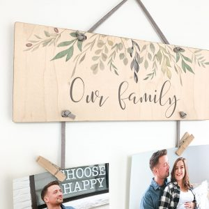 Our family, photo display, memory display