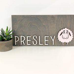 Personalized Critter Blocks, Nursery Décor
