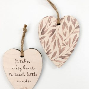 It takes a big heart to teach little minds, gift tag, tree ornament, wall banner