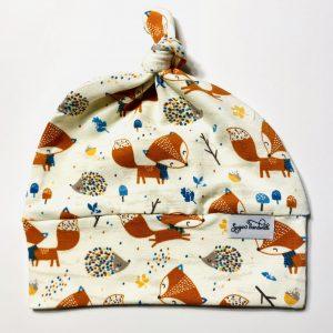 fox top knot hat