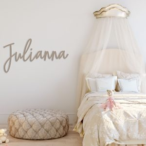 Custom laser cut name sign for baby room