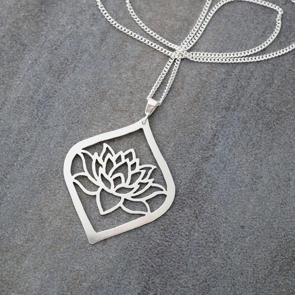 Lotus Blossom Pendant by Argent Whimsy Jewellery