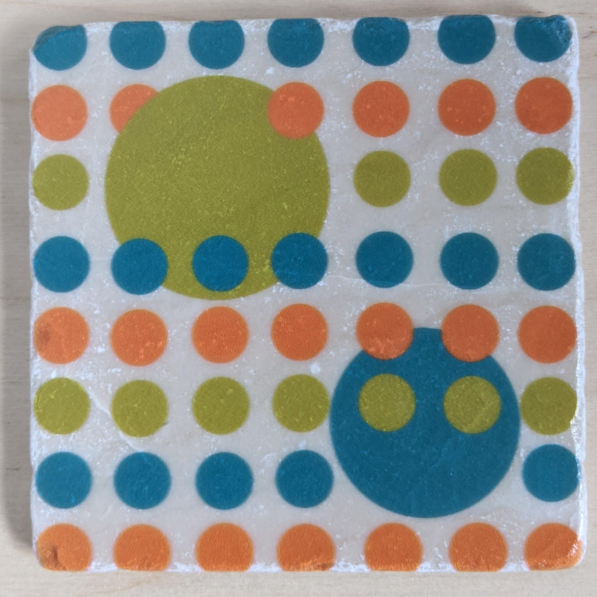 MCM-Marble Art Coasters Circles-04A-1