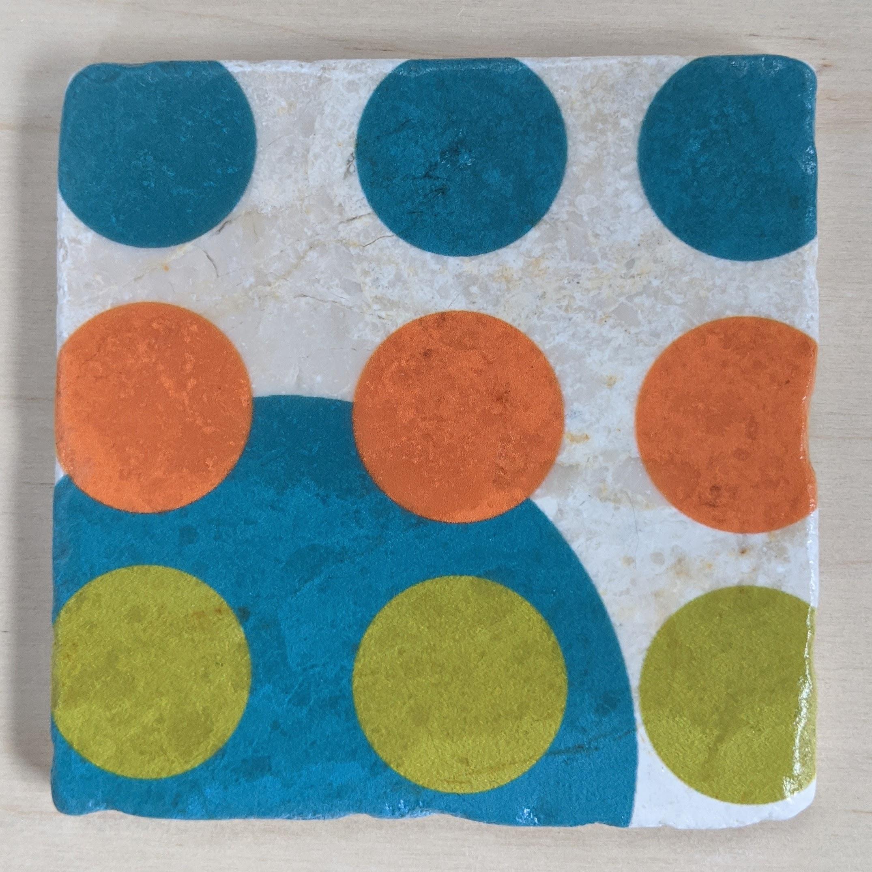 MCM-Marble Art Coasters Circles-04B-1