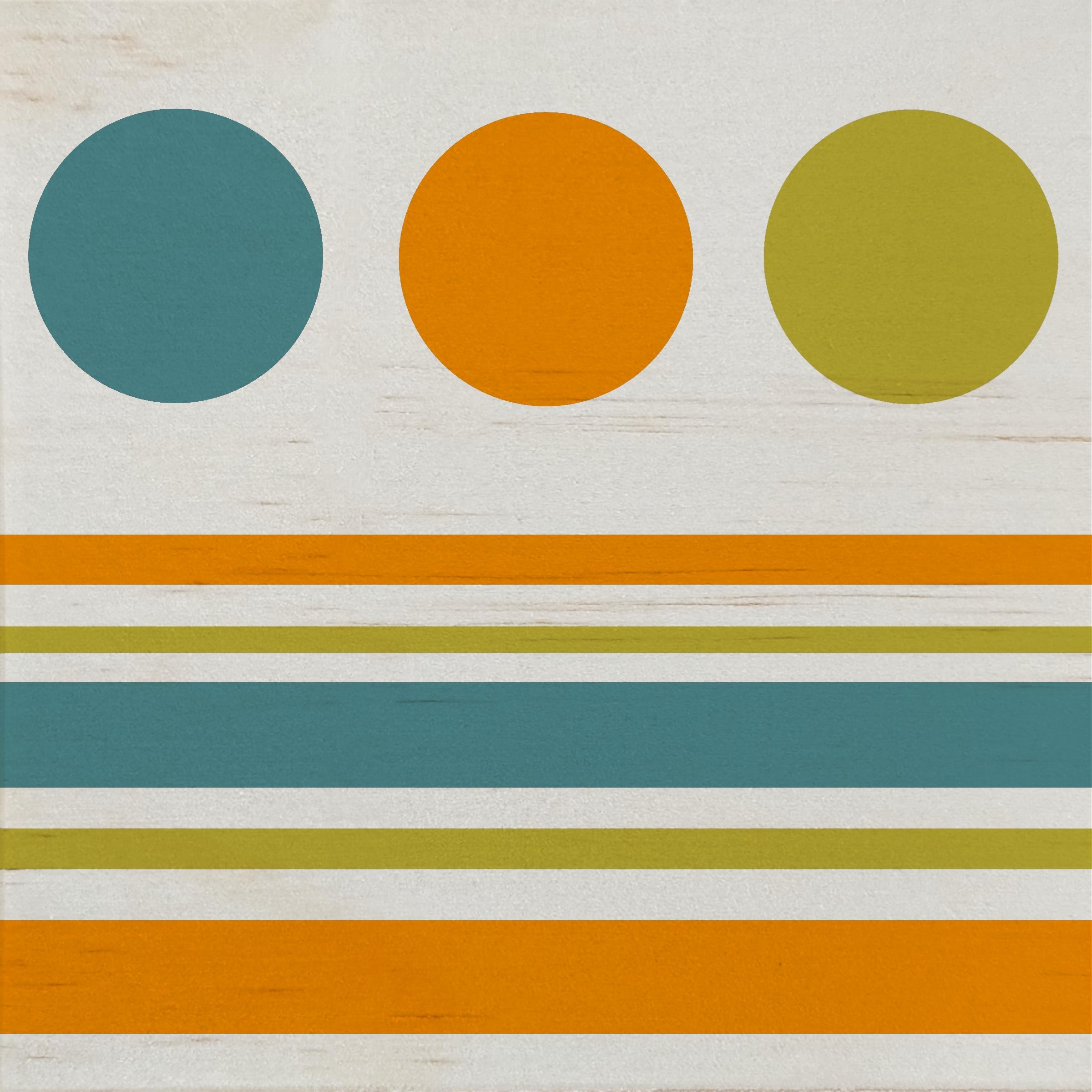 Wood Art Panel-MCM Circles-01A