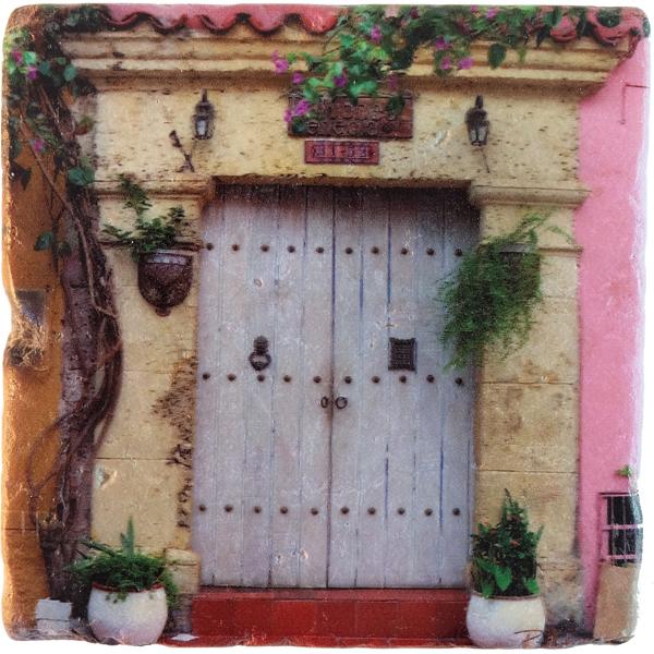 Marble Art Coaster - Cartagena Door