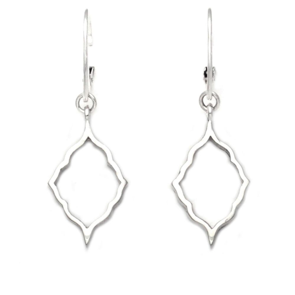 Sterling Silver Moroccan Silhouette Earrings