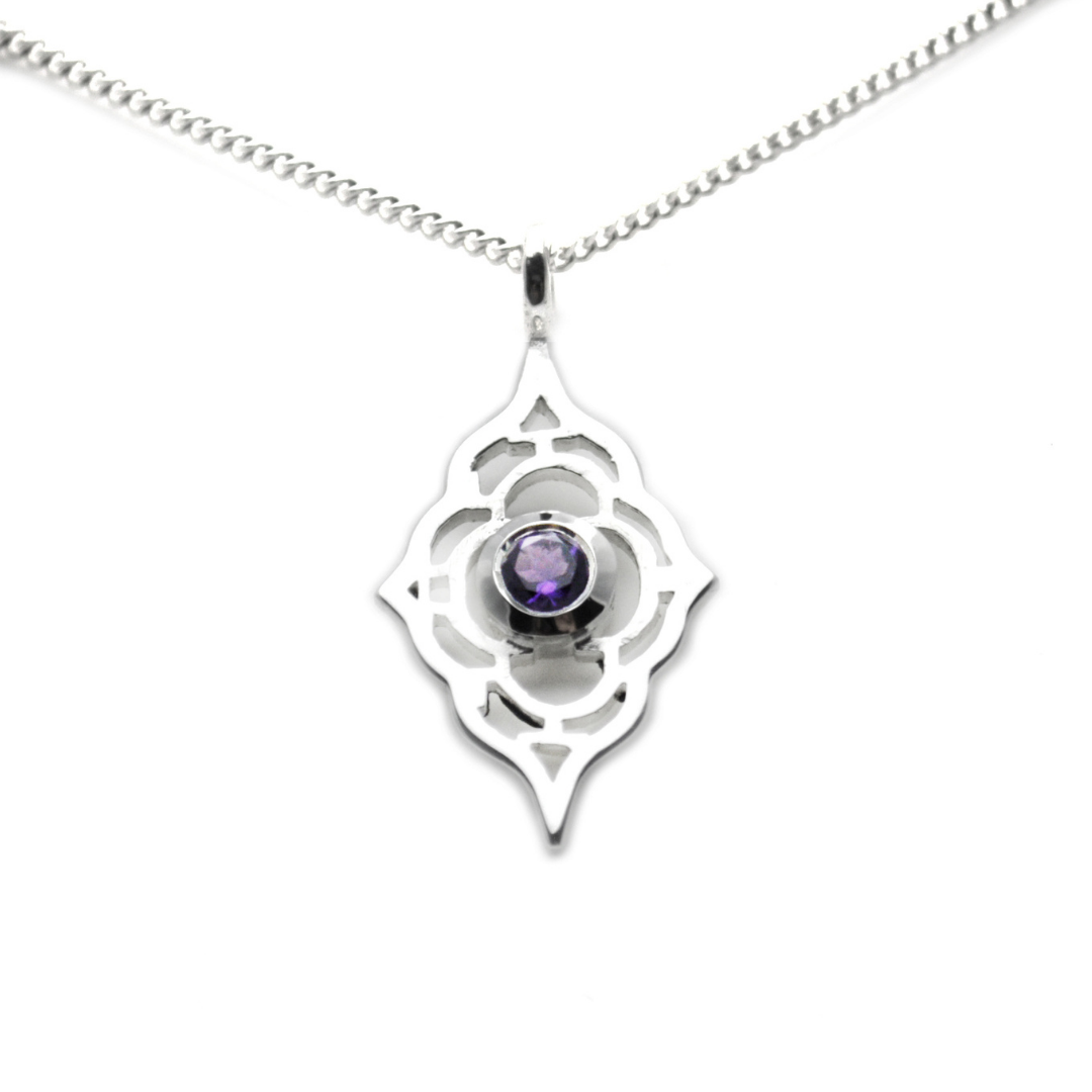 Moroccan Pendant with Amethyst