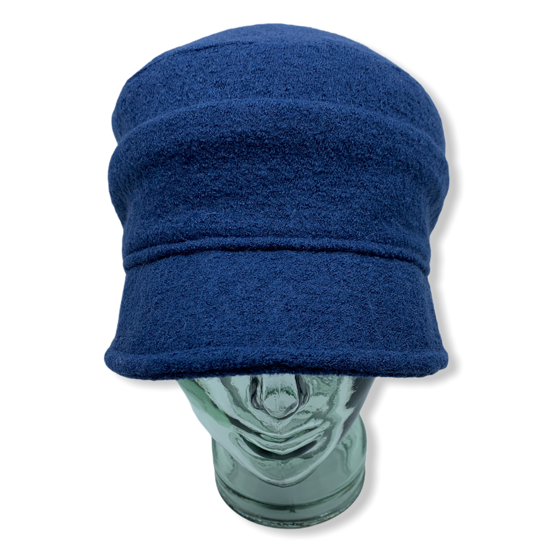 Cap | Blue | Boiled wool | Hats | Made in canada | Genevieve Dostaler